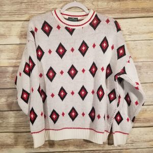 Vintage Cabin Creek Diamond Tight Knit Sweater